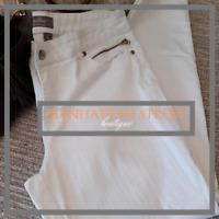 So Slimming By Chicos Womens Sz 2 US Sz 12 White Denim Jeans Pants 7008