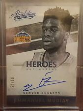 2016-17 Absolute Heroes EMMANUEL MUDIAY Autograph #63/75 Denver Nuggets