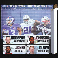 Fantasy Football Draft Kit 2017 - Board, Labels, Plus Extras - Full Color