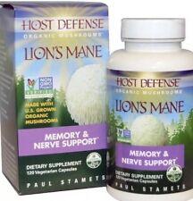 Host Defense Lion's Mane Mushroom Memory & Nerve Support 120 Capsules