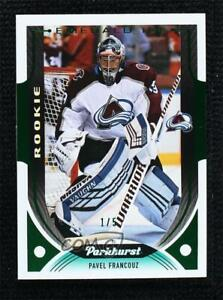 2020-21 Parkhurst Rookies Emerald Ice Achievement 1/5 Pavel Francouz #302 Rookie