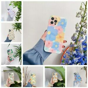 Cute Flower Pattern Silicone Case Cover For iPhone 12 Pro Max 11 XS XR 7 8 Plus