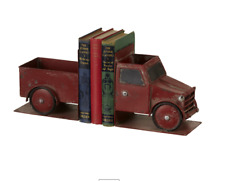 Cbk Iron Distressed Red Truck Bookend Pair 149064