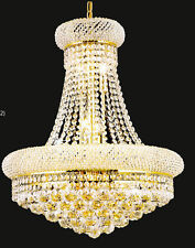 Palace Bagel 14 Lights Crystal Chandelier Ceiling light - Gold  20x26