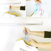 Plastic Clothes Hook Rack Holder For Wardrobe Tie/Belts/Scarves Organizer^Hanger