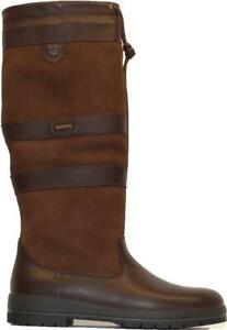Dubarry Galway Slim Leg Width Walnut Brown Leather Womens Pull On Long Leg Boots