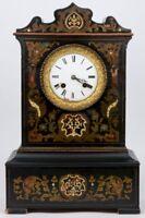 Antique French NAPOLEON III mantel clock inlaid 1880