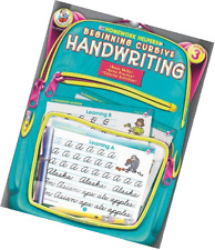 Beginning Cursive Handwriting Grade 3 Homework Helper Workbook Learning Practice