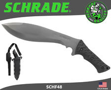 Schrade Fixed Knife Full Tang Jethro 3Cr13 Steel TPE Handle Belt Sheath SCHF48
