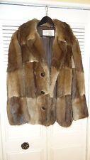 Pollack's 60s Brown Mahogany MINK FUR Stole cape Jacket coat dress wrap wedding