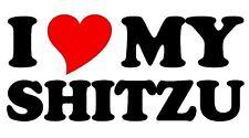 I love / coeur mon shitzu les propriétaires de chien voiture / fourgonnette / fenêtre / pare-chocs Autocollant Vinyl / autocollant