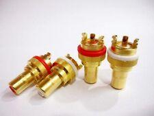 CMC 805-2.5F Gold Plate RCA Socket 2 pairs/4 pcs