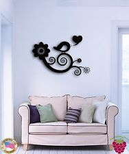 Wall Sticker Bird Branch Flowers Tree Cool Decor for Bedroom  z1368