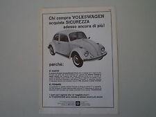 advertising Pubblicità 1968 VOLKSWAGEN BEETLE MAGGIOLINO