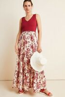 New Anthropologie Maeve Trudie Tiered Floral Maxi Dress Size 1X
