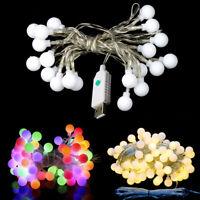 10M / 32.8ft 60LEDs USB 5V LED Kugel Stil Fairy Garland Lichterkette Glühlampen