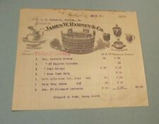 1908 James Ramsey & Co. Wooden and Willow Ware Advertising Billhead Baltimore Md