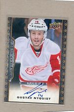 gustav nyquist detroit red wings auto card 2014/15 ud masterpieces 85