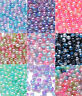 ABS DIY 4mm 6mm 8mm Colour Acrylic Round Pearl Spacer Loose Beads Jewelry Making