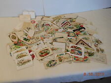 Large Lot of Antique Victorian Calling Cards w Diecuts Envelopes Flowers Birds H