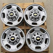 "8 LUG 17"" CHEVY TRUCK STEEL WHEEL RIMS WITH CHEVY CENTERS"