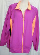 22/24 Hot Pink Moisture Wicking Lane Bryant ACTIVE Track Jacket Zipper NWT! $69