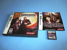 Castlevania Portrait of Ruin (Nintendo DS) Lite DSi XL 3DS 2DS w/Case & Manual