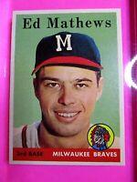 1958 TOPPS #440 ED MATHEWS BRAVES (MINT Very High Grade) detailed pics! Amazing,