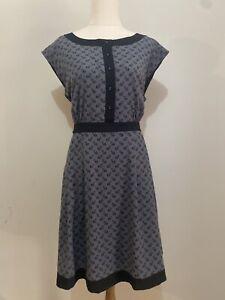 Revival Dangerfield Grey Fox A Line Dress Size 14 Pin Up