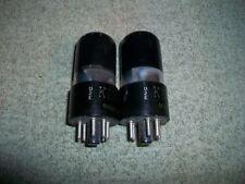 Vintage Date Match Pair Ken-Rad  6K6GT Black Glass Bot Foil Getter Tested Good