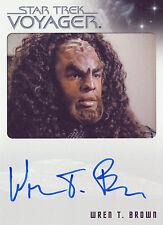 Star Trek Voyager Heroes & Villains Wren T. Brown Autograph Card