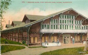 Nereides Baths Point Defiance Park Tacoma Washington Mitchell postcard 10143