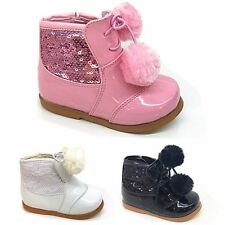 Party Leather Upper Shoes for Girls Zip