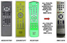 Replacement Philips RC2573/01 Hospitality Remote For Green Yellow Gray Masters