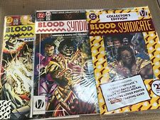 BLOOD SYNDICATE #1, 2 &1 sealed Collector #1 lot: DC Comics 1993 NM, Black hero