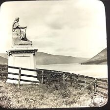 Antique Magic Lantern Glass Photo Slide GWW St Mary's Loch Scotland Sculpture