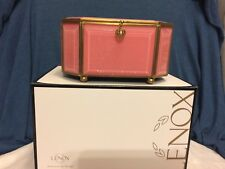 Vintage Lenox Porclein Jewelry Box - Delicate Pink Ribbon and Floral Decor