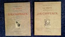 CARPEAUX Vérité sur l'Oeuvre et vie -envoi à Maurice Denis RARE Livre Art Ancien