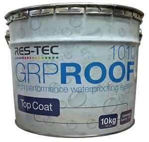 Topcoat GRP 1010 Fibreglass Roofing for Flat Roofs, Dark Admiralty Grey