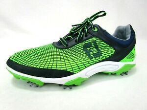 Footjoy Junior Boys Golf Shoes 4 M Green Blue Oxford Cleats