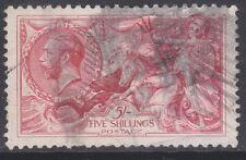 Great Britain sc#180 1919 5sh Seahorses used - '12 scv$125 - g843