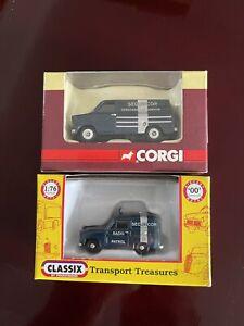 2 X Oo Gauge 1:76 Securicor Road Vehicles Corgi Pocketbond Classix Model Railway