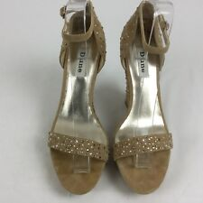 New Dune Taupe Suede High Wedge Platform  Dimonte Studded Sandals Eu 40 Uk 6.5