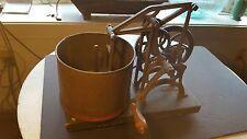 Antique Ca. 1880 Food Chopper Kitchen Gadget Processor-Wonderful To See Operate