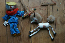 2 x Vintage Pelham Puppets - Horse / Foal & Clown