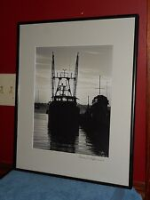 Original Black & White Photograph Fishing Boat Trawler Signed Thomas St Germain