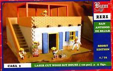 BUM Models 1/72 THE ALAMO SAN ANTONIO DE BEJAR HOUSE #2 Wood House & Figure Set