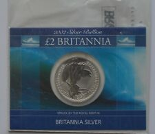 2002 £2 Britannia 1oz Silver Coin Royal Mint Presentation Card Silver Bullion