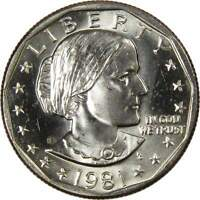 1981 S Susan B Anthony Dollar BU Uncirculated Mint State SBA $1 US Coin