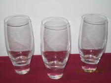 "NAMBE CRYSTAL. ""CONTOUR""  HIGHBALL GLASSES (3)"